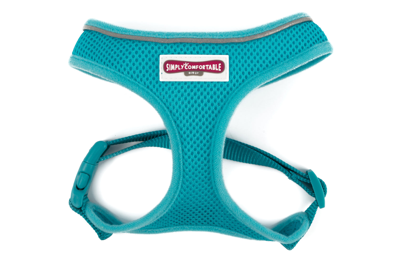 Mesh Dog Harness in Teal