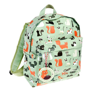 Nine Lives Cat Design Backpack