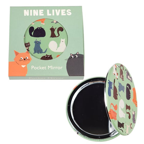 Nine Lives Pocket Mirror