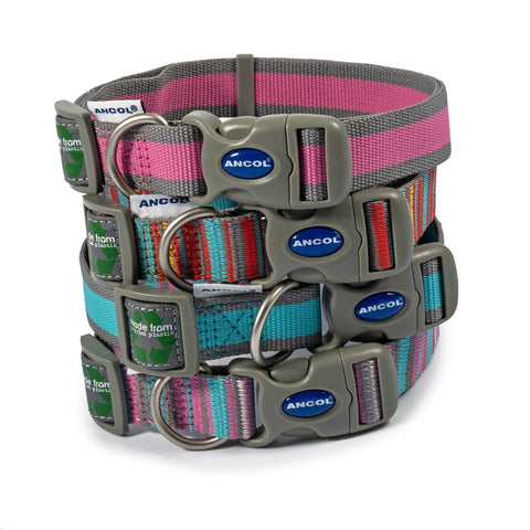 Eco Dog Collar - Blue & Grey