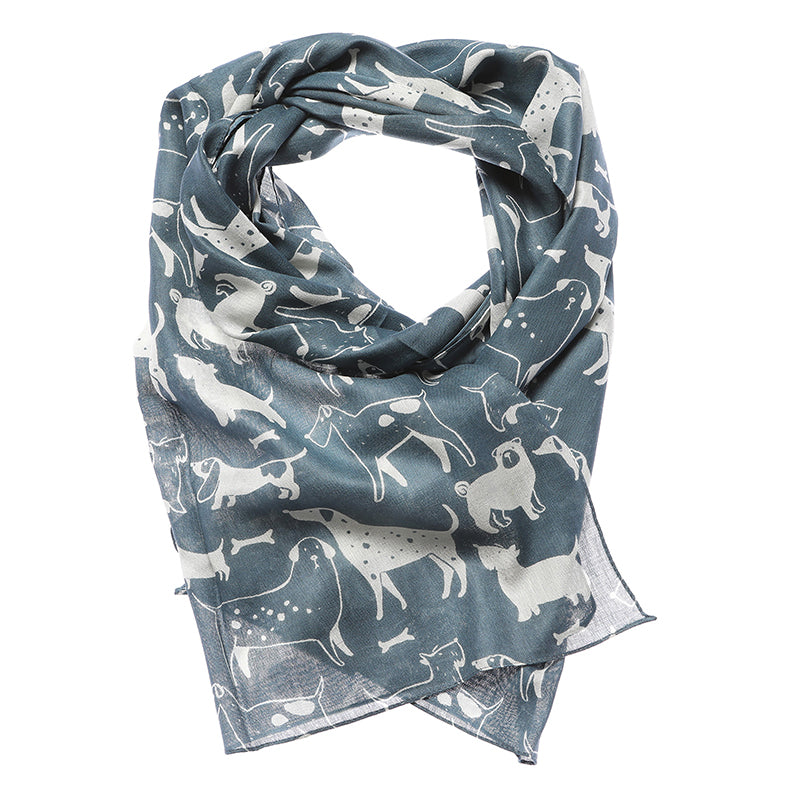 Furry Friends Dog Print Scarf