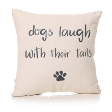 Load image into Gallery viewer, Furry Friends Laughing Dog Cushion