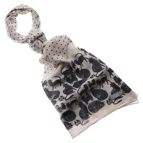 Furry Friends Cat Print Scarf