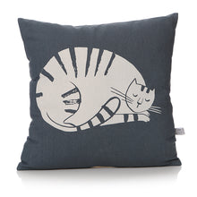 Load image into Gallery viewer, Furry Friends Sleeping Cat Cushion