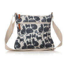 Load image into Gallery viewer, Cat Print Oilcloth Sling Bag