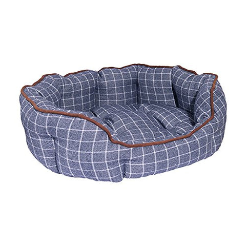 Marine Check Oval Bed
