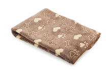 Load image into Gallery viewer, Comfort Paw Print Fleece Blanket
