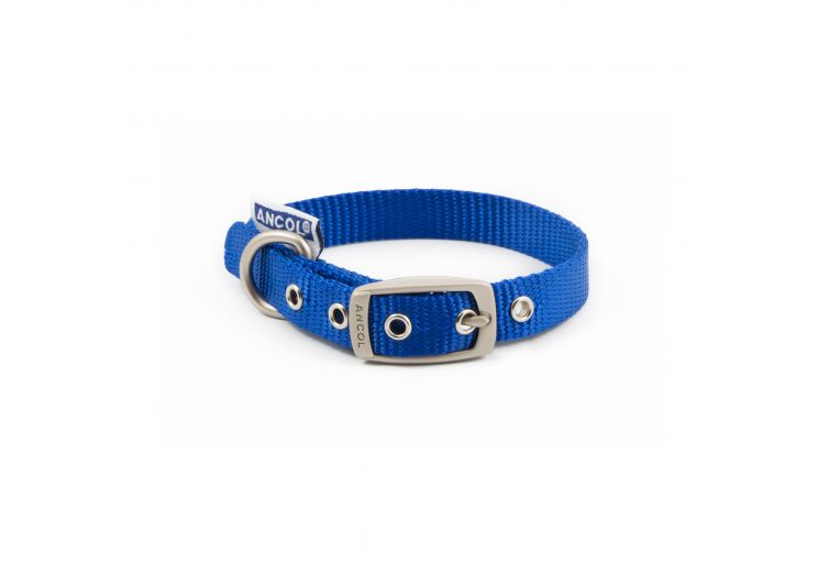 Nylon Padded Eyelet Collar Blue