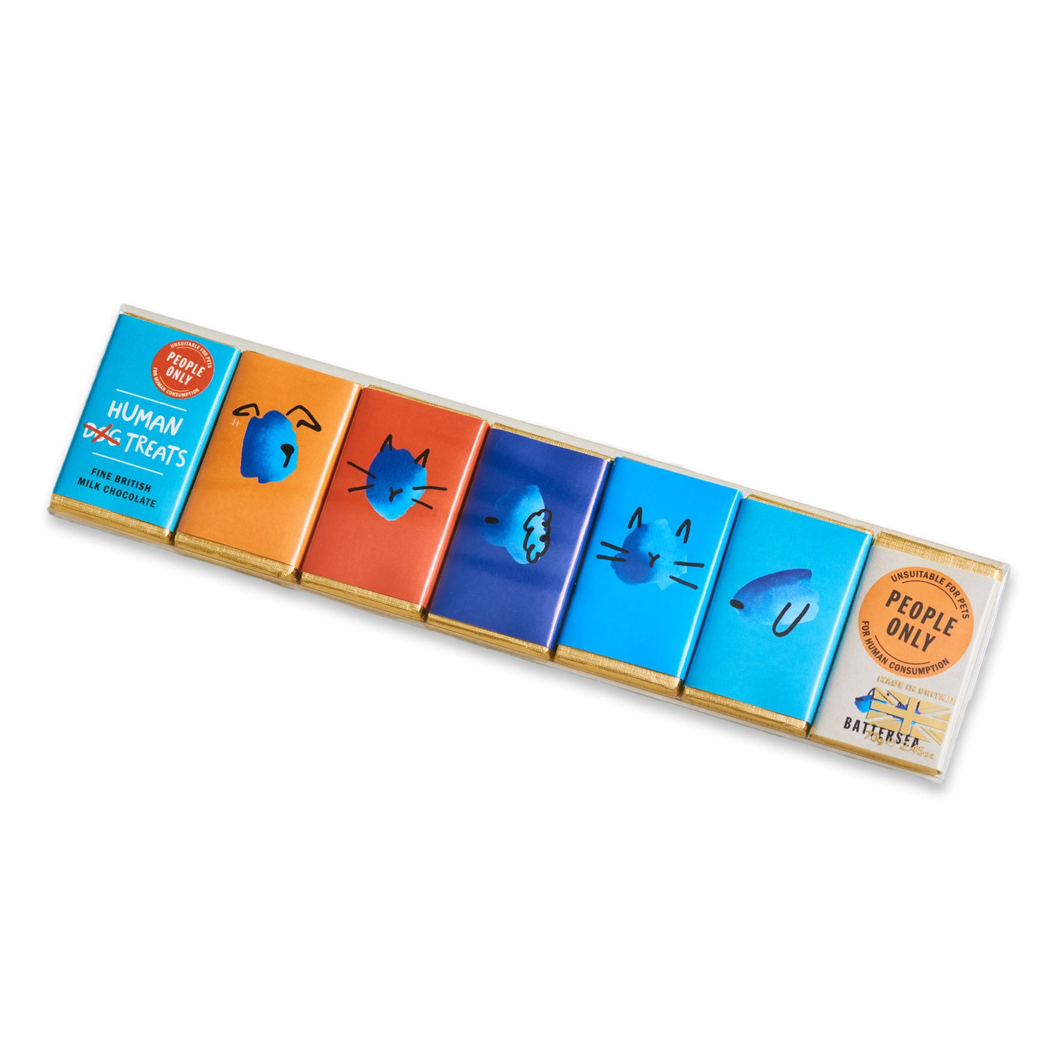 Human Chocolates 7 Pack - Milk Chocolate