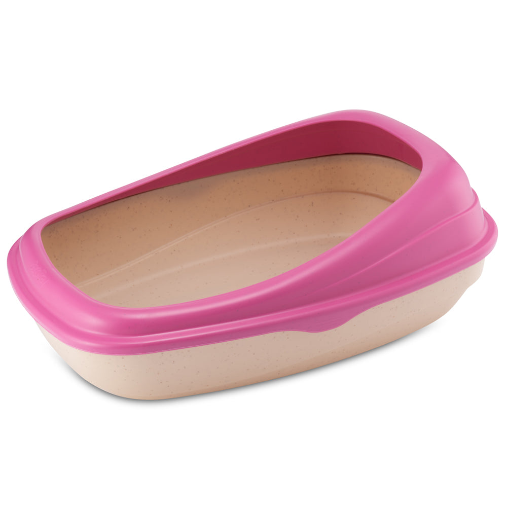 BECO Bamboo Litter Tray - Pink