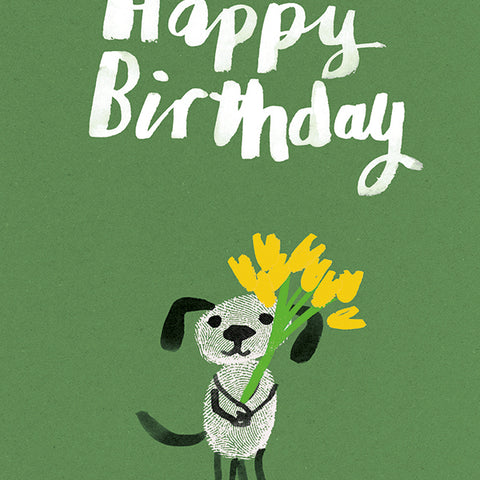 Single Greeting Card- Birthday Dog