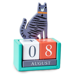 Cat Wooden Desk Calendar