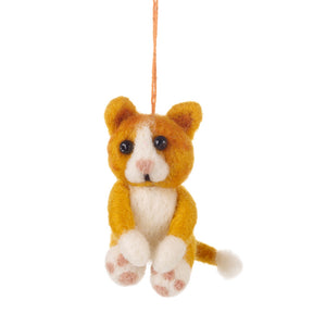Felt Cat Decoration: Marmalade