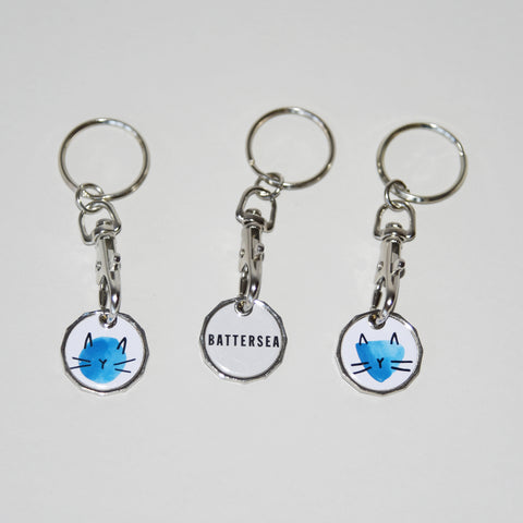 Battersea Cat Trolley Keyring