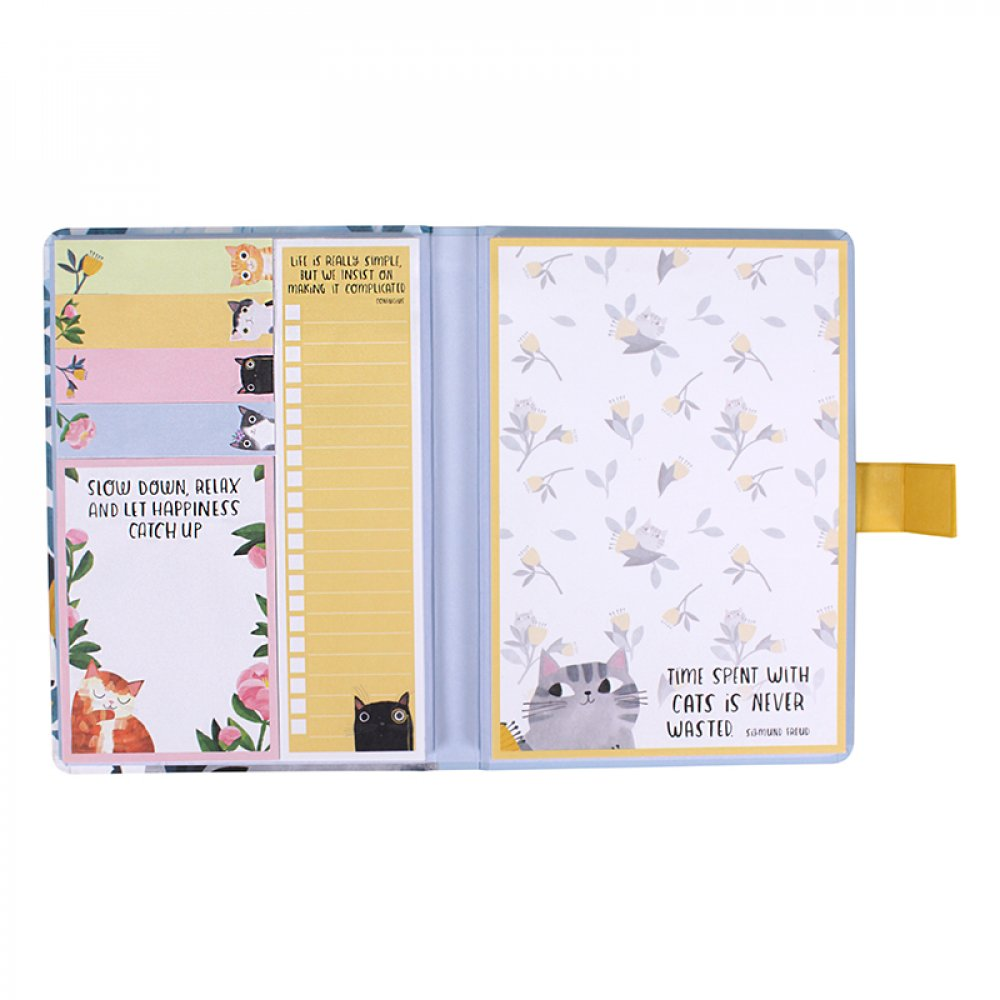 'Time Spent with a Cat' Sticky Note Folio