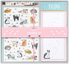 Load image into Gallery viewer, Curious Cats Stationary Set