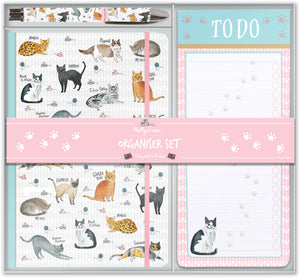 Curious Cats Stationary Set