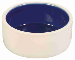 Blue Glazed Ceramic Dog Extra Large Bowl