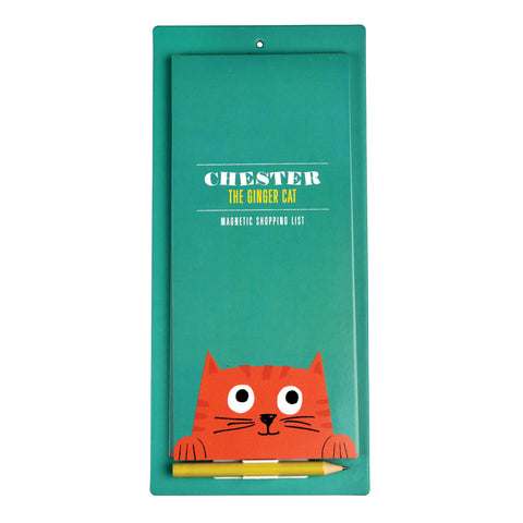 Chester the Cat Magnetic Shopping List