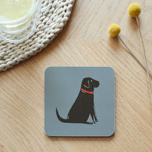 Load image into Gallery viewer, Black Labrador Coaster