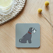 Load image into Gallery viewer, Grey Schnauzer Coaster