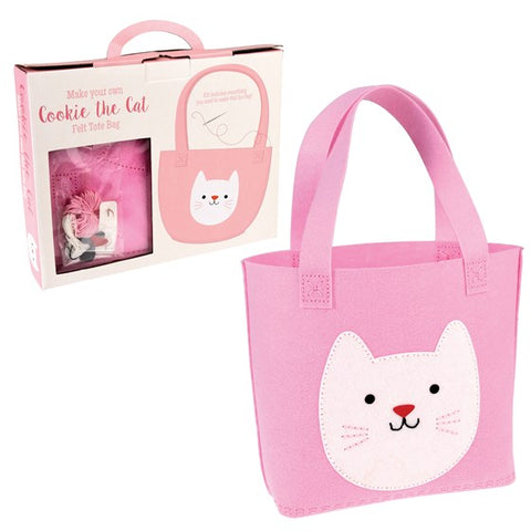 Sew Your Own 'Cookie the Cat' Tote Bag Craft Set