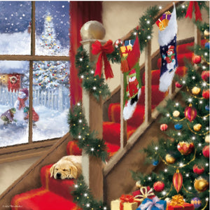 Cosy Dog Christmas Card Pack