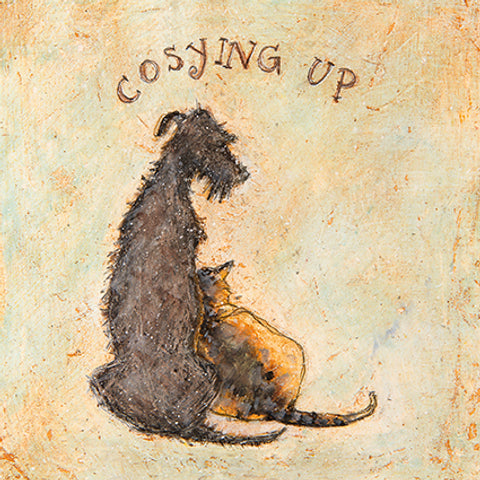 Cosying Up - Single Greeting Card