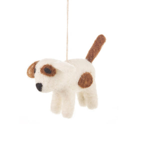 Felt Dog Decoration: Spot