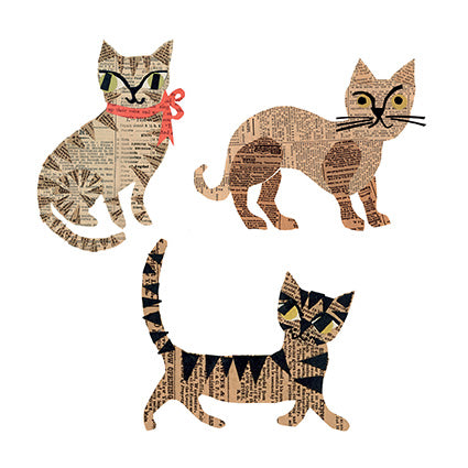 Single Greeting Card - Fabulous felines