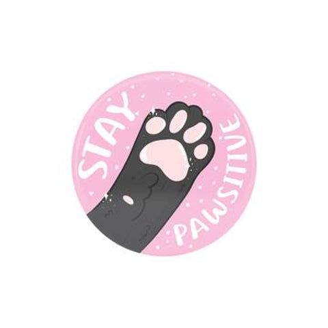 'Stay Pawsitive' Badge