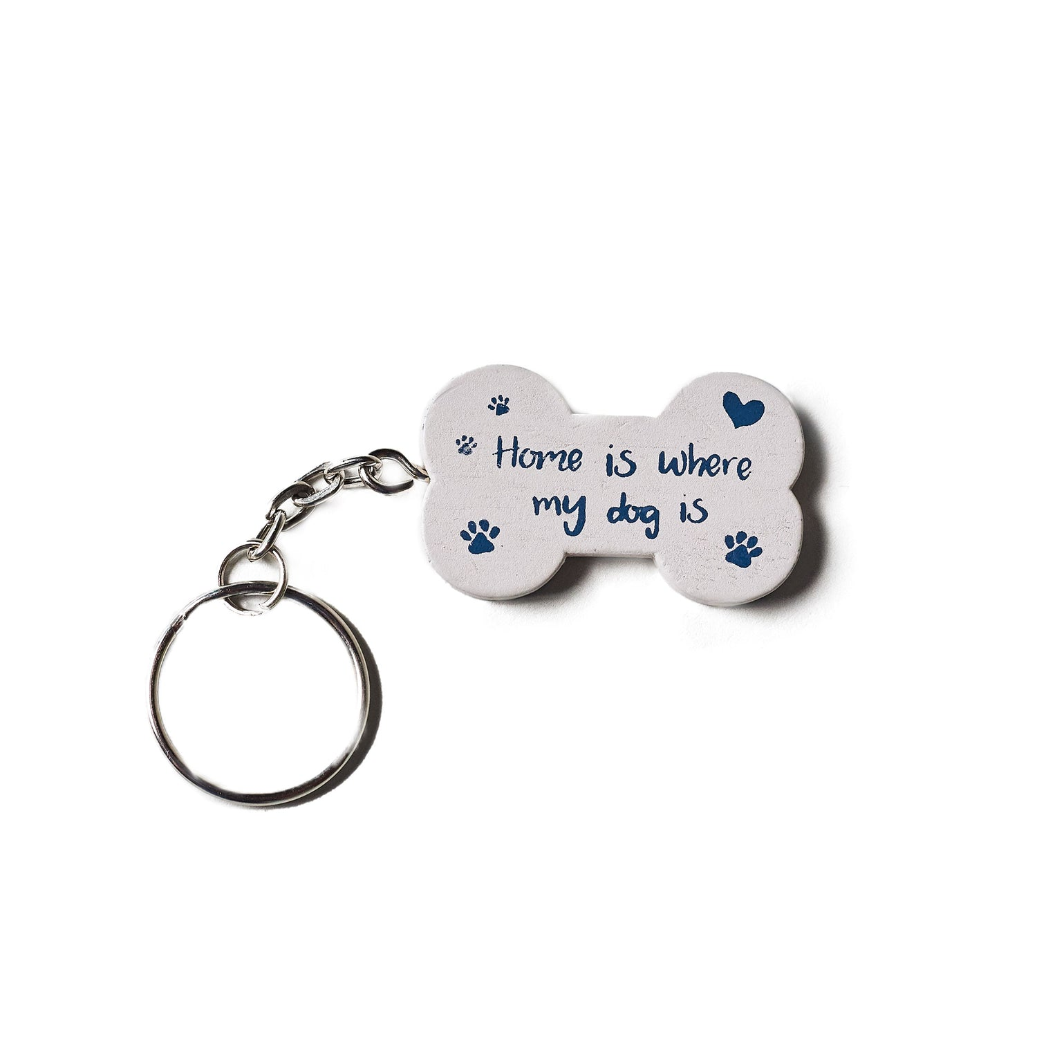 'Home is Where my Dog Is' Keyring