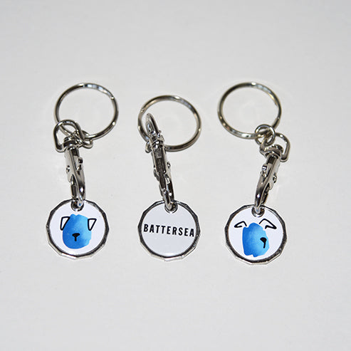 Battersea Dog Trolley Keyring