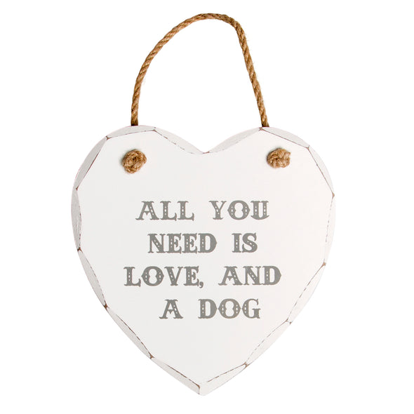 All You Need is Love and a Dog Plaque
