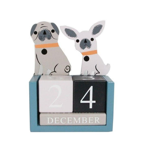 Dog Wooden Desk Calendar