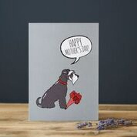 Grey Schnauzer Mother's Day Card