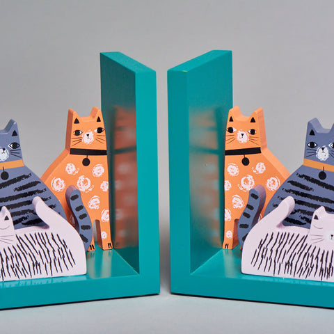 Cat bookends