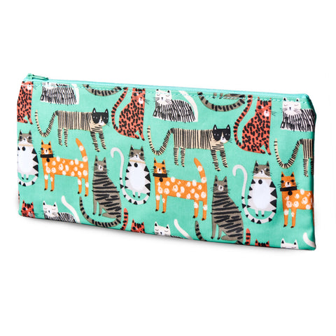 Large Cat Print Pouch