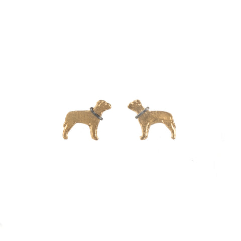 Staffie Stud Earrings by Amanda Coleman