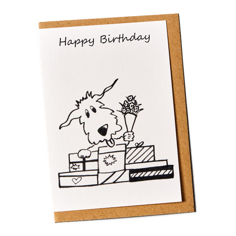 Happy Birthday Dog Greeting Card
