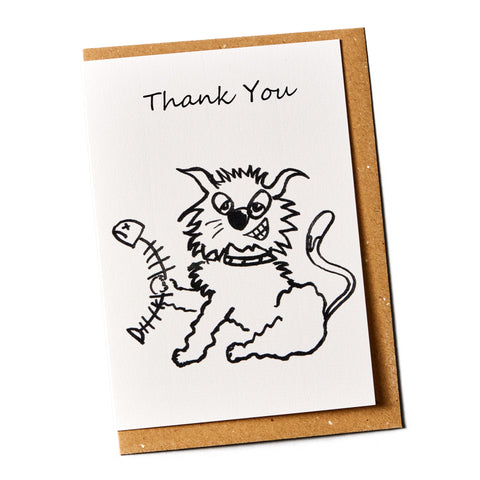 Thank You Cat Greeting Card