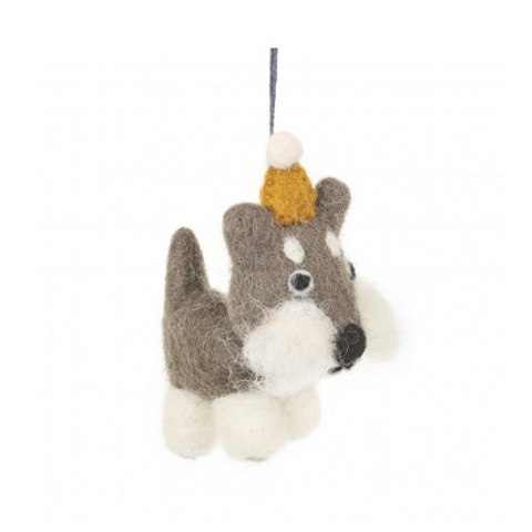 Felt Dog Decoration: Hugo