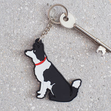Load image into Gallery viewer, Sweet William Border Collie Keyring