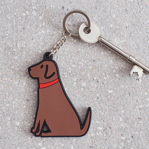 Sweet William Chocolate Lab Keyring
