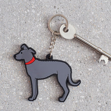 Load image into Gallery viewer, Sweet William Lurcher Keyring
