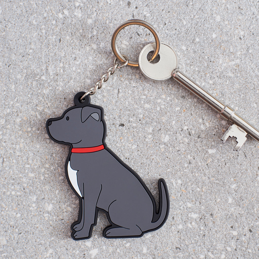 Sweet William Staffie Keyring