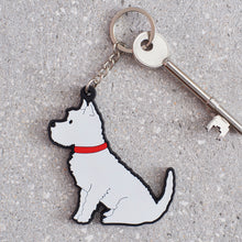 Load image into Gallery viewer, Sweet William Westie Keyring