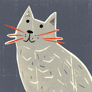 Single Greeting card - Leticia, with her red whiskers