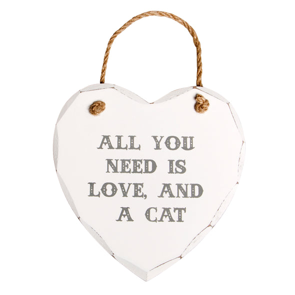 All You Need is Love and a Cat Plaque