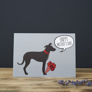 Lurcher Mother's Day Card